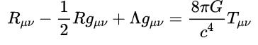 爱因斯坦重力场方程